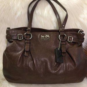 COACH Madison Dark Brown CarryAll #16359